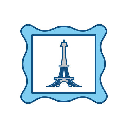 Eiffel tower stamp icon vector illustration graphic design