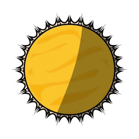 Sun isolated solar system icon vector illustration graphic design