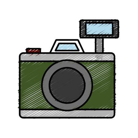 photographic camera icon over white background vector illustration