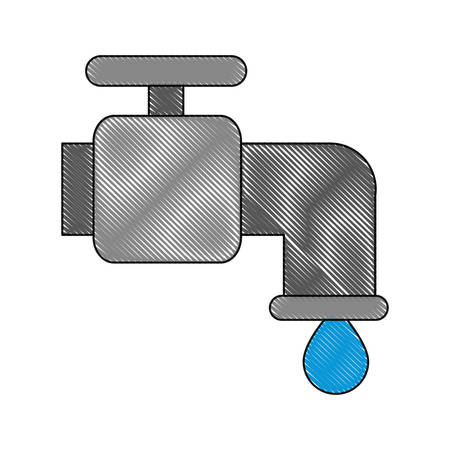 Water faucet icon over.