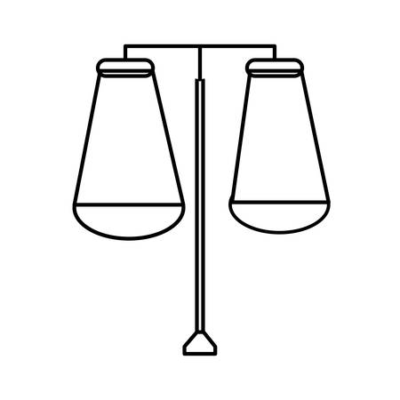 street lamps on icon over white background vector illustration