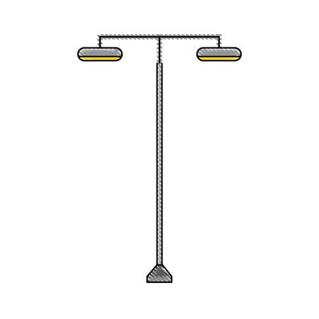 modern street lamps icon over white background colorful design vector illustration