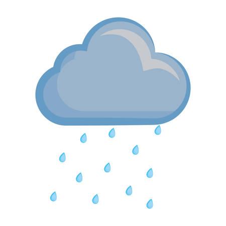 Illustration pour Cloud weather symbol cartoon - image libre de droit
