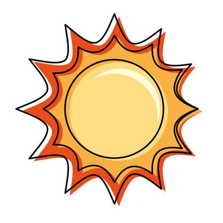 Sun isolated symbol cartoon