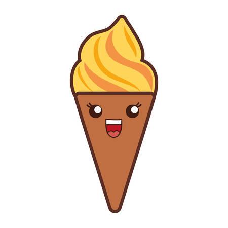 Ice Cream Icon Over White Background Colorful Design