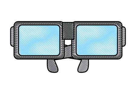 Nerd glasses icon over white background, colorful design. vector illustration