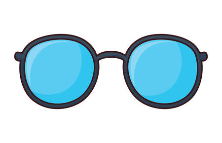 sunglasses icon over white background, colorful design. vector illustration