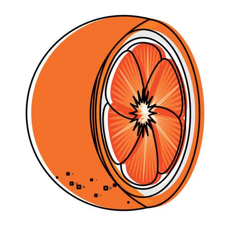 orange slice icon over white background, colorful design