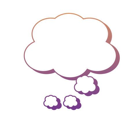 Illustration pour speech cloud icon over white background, colorful design. vector illustration - image libre de droit