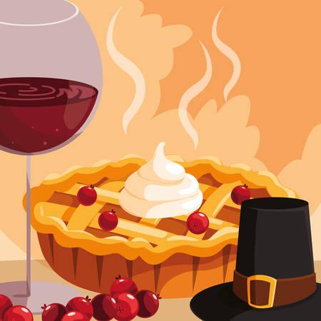 Apple pie icon over white background, vector illustration