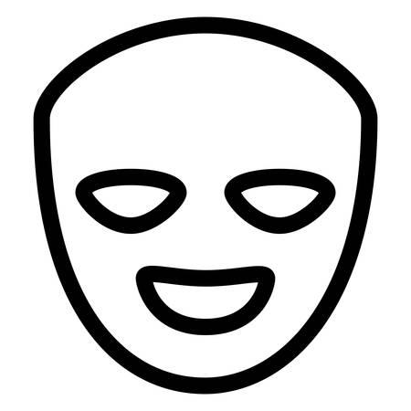 Ilustración de theatrical happy masks isolated icon vector illustration design - Imagen libre de derechos