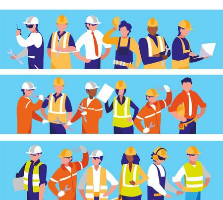 Illustration pour team workers people characters vector illustration design - image libre de droit