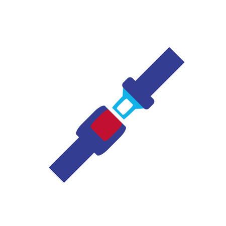 Illustration pour seat belt isolated icon vector illustration design - image libre de droit