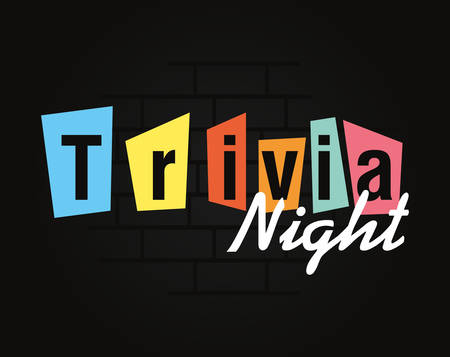 Illustration for trivia night lettering on dark background vector illustration - Royalty Free Image