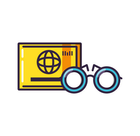 optical eyeglasses with credit card vector illustration design