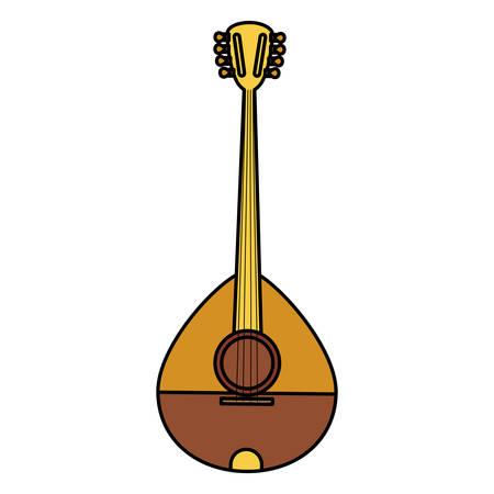 buzuki instrument isolated icon vector illustration design