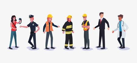 people profession labour day vector illustration design