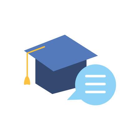 Illustration pour graduation hat study element icon vector illustration design - image libre de droit