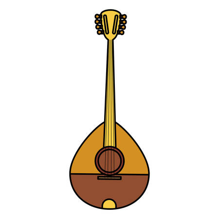 buzuky instrument isolated icon illustration design