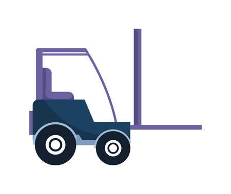 Illustration for under construction forklift vehicle vector illustration design - Royalty Free Image