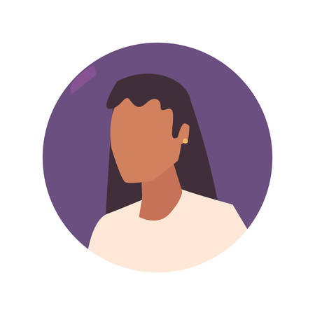 Illustration for woman female character portrait design vector illustration - Royalty Free Image