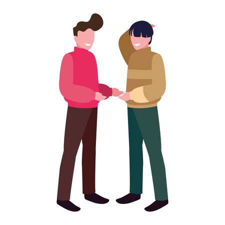 Illustration pour men standing on white background vector illustration design - image libre de droit