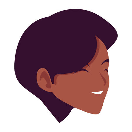 Illustration for woman head design, Girl female person people human and social media theme Vector illustration - Royalty Free Image