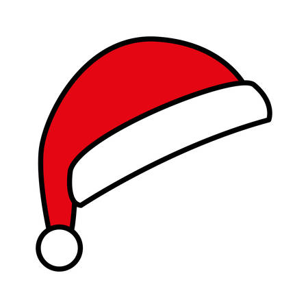 Illustration for cute red santa claus hat on white background vector illustration design - Royalty Free Image