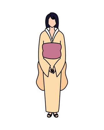 Illustration pour woman faceless standing on white background vector illustration design - image libre de droit