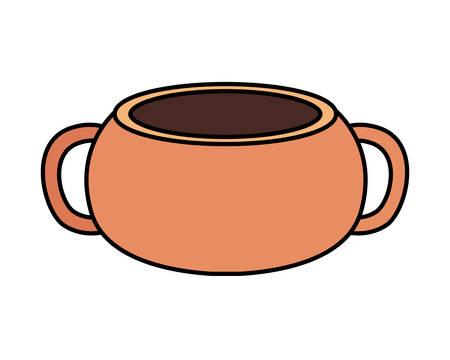 Illustration pour cute flower pot on white background vector illustration design - image libre de droit