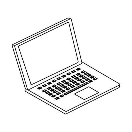 Illustration pour open laptop on white background vector illustration design - image libre de droit