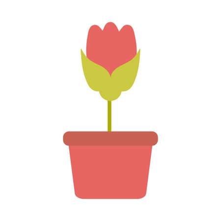 Illustration pour cute flower with potted on white background vector illustration design - image libre de droit