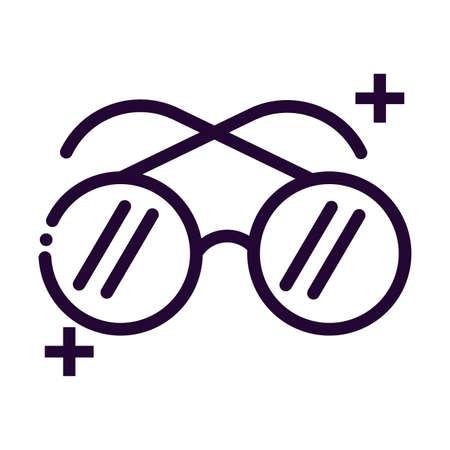 classic glasses line style icon vector illustration design