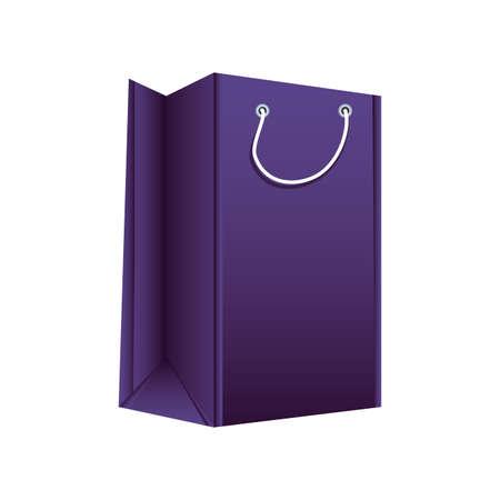 Illustration pour shopping bag on white background vector illustration design - image libre de droit