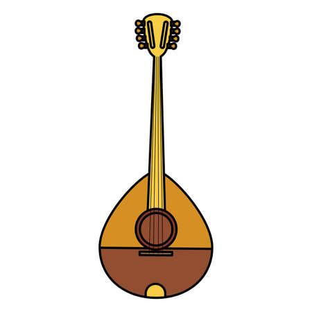 buzuky instrument isolated icon vector illustration design