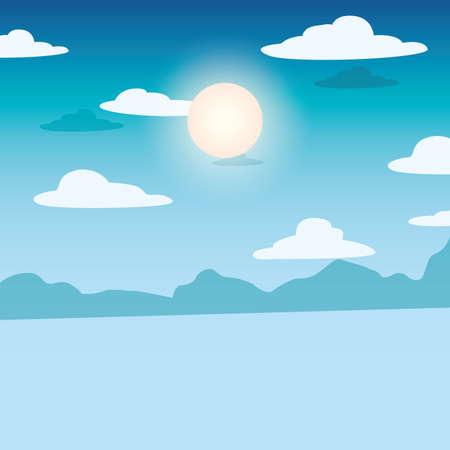 Illustration pour summer time vacation flat design vector illustration - image libre de droit