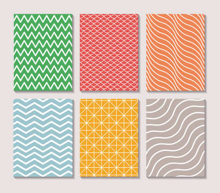 Illustration pour Pattern and striped frames, Background abstract texture art wallpaper template and decoration theme Vector illustration - image libre de droit