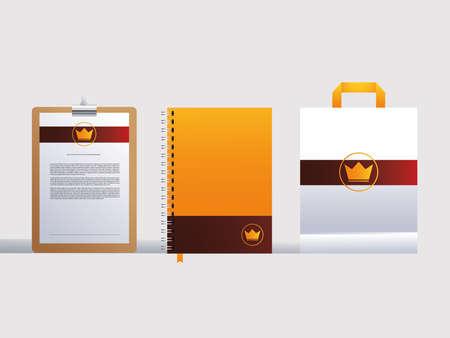 Illustration pour corporate identity branding design in white background vector illustration design - image libre de droit