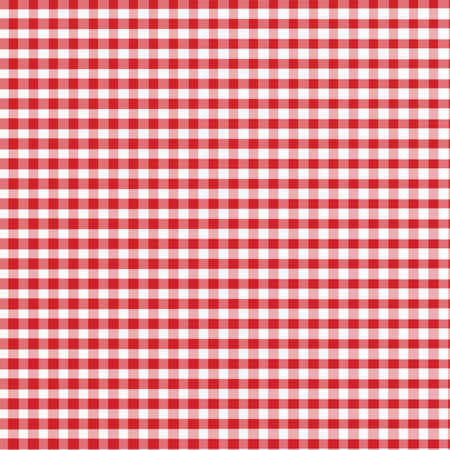 Red and White Gingham with slight fabric textrue - digitally created