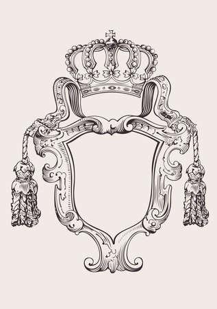 Ilustración de One Color Crown Insignia Isolated - Imagen libre de derechos