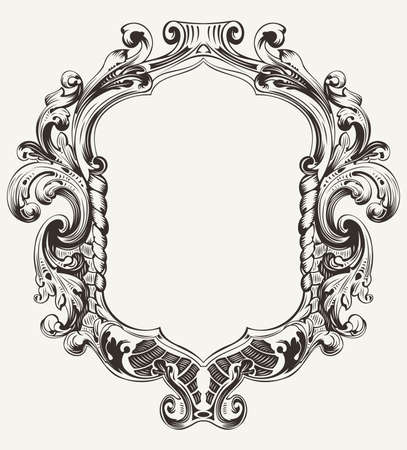 Illustration for Vintage High Ornate Original Royal Frame - Royalty Free Image