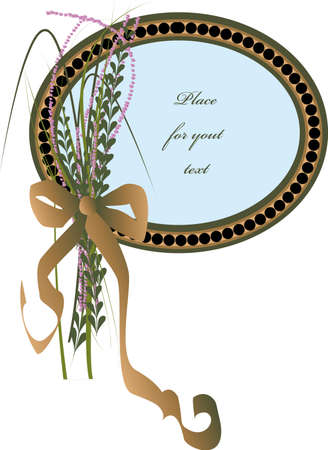 oval mourning frame with flowers plus ribbon