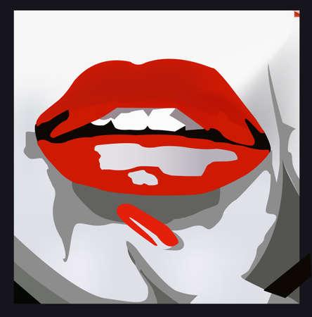 sensual lips vector illustration