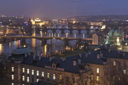 Night landscape in Prague