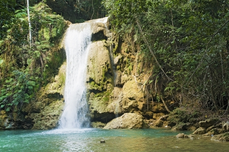 Lower Limon waterfall at Samana, Dominican Republic