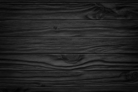 Foto de Black wooden plank, tabletop, floor surface or chopping, dark wood texture - Imagen libre de derechos