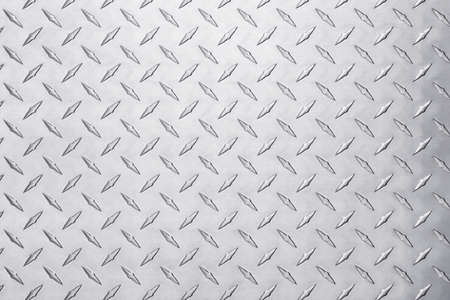 Photo pour shiny metal texture with diamond pattern. stainless steel background - image libre de droit