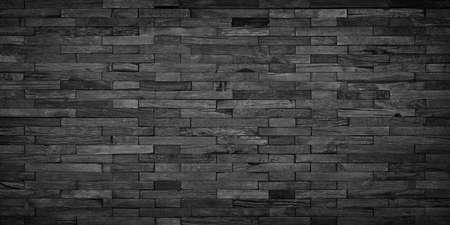 Photo for black wood background, dark wood mosaic wall panel - Royalty Free Image