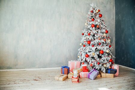 Foto de Christmas tree decor gifts new year holidays winter - Imagen libre de derechos