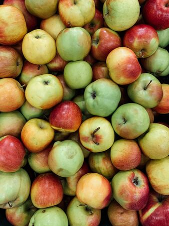 Photo for lots of ripe sweet apples background - Royalty Free Image